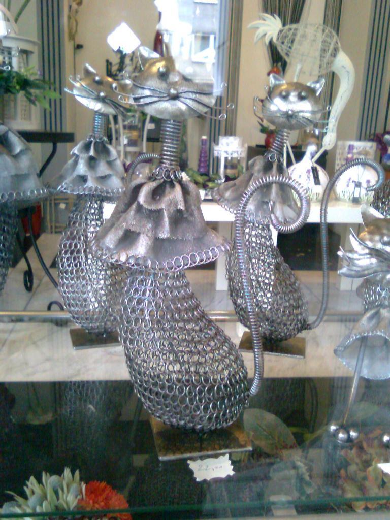 Chat en métal